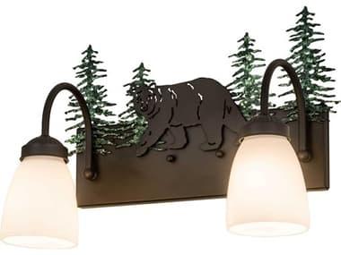 Meyda Glass Rustic Lodge Vanity Light MY178438
