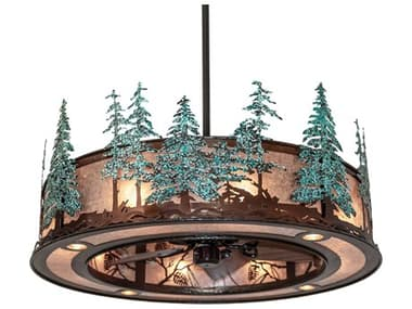 Meyda Whispering Pines Vintage Copper / Oil Rubbed Bronze 16-Light 45'' Wide Indoor / Outdoor Ceiling Fan MY230672