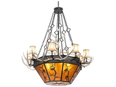 Meyda Whispering Pines 16-light 60'' Wide Rustic Lodge Large Chandelier MY218692