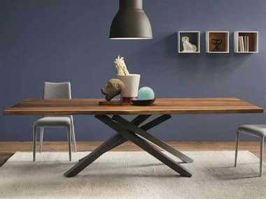 Midj Pechino Walnut with Graphite 98''W x 42''D Rectangular Dining Table MIDMDPECHINOW