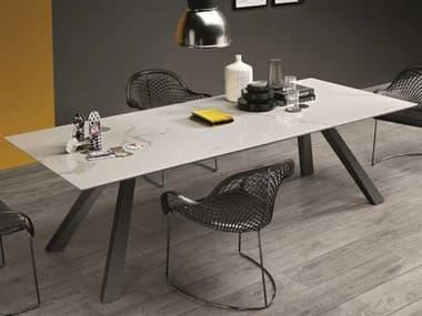 Midj Zeus Marble Calacatta with Graphite 98''W x 39''D Rectangular Dining Table MIDMDZEUS