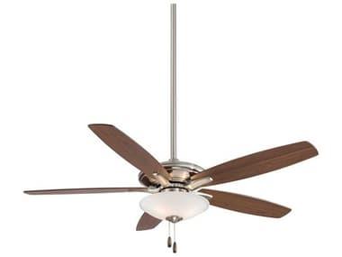 Minka-Aire Mojo Brushed Nickel Three-Light 52'' Wide Indoor Ceiling Fan with Reversible Brushed Nickel / Dark Walnut Blades MKAF522LBN