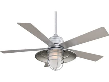 Minka-Aire Rainman LED Galvanized One-Light 54'' Wide Outdoor Ceiling Fan with Silver Blade MKAF582LGL