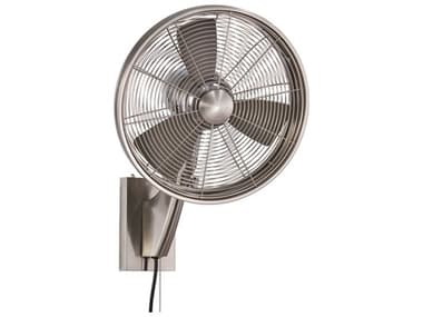 Minka-Aire Brushed Nickel 15'' Wide Wall Fan with Silver Blades MKAF307BN
