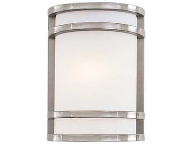 Minka Lavery Bay View Brushed Stainless Steel Glass Outdoor Wall Light MGO9801144