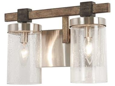 Minka Lavery Bridlewood Stone Grey / Brushed Nickel Glass Vanity Light MGO4632106