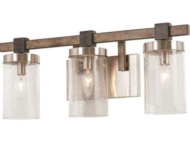 Minka Lavery Bridlewood Stone Grey / Brushed Nickel Glass Vanity Light MGO4633106