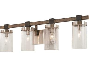 Minka Lavery Bridlewood Stone Grey / Brushed Nickel Glass Vanity Light MGO4634106