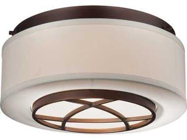 Minka Lavery City Club Dark Brushed Bronze 15'' Wide Glass Flush Mount Light MGO4952267B