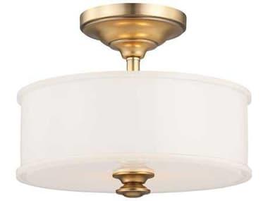 Minka Lavery Harbour Point Liberty Gold 13'' Wide Glass Semi-Flush Mount MGO4172249