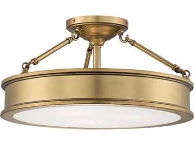Minka Lavery Harbour Point Liberty Gold 19'' Wide Glass Semi-Flush Mount MGO4177249