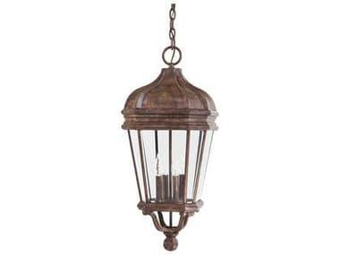 Minka Lavery Harrison Vintage Rust Glass Outdoor Hanging Light MGO869461