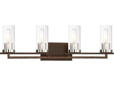 Minka Lavery Maddox Roe Iron Ore / Gold Dust Highlight Glass Vanity Light MGO4604101