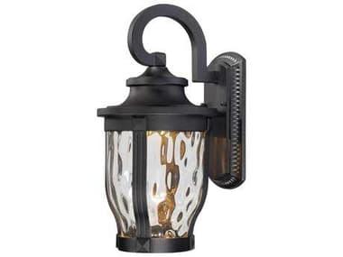 Minka Lavery Merrimack Black Glass LED Outdoor Wall Light MGO876266L