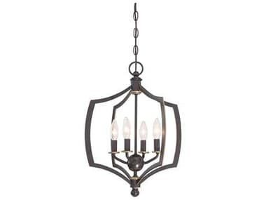 Minka Lavery Middletown Downton Bronze with Gold Hightlights 16'' Wide Mini Chandelier MGO4374579