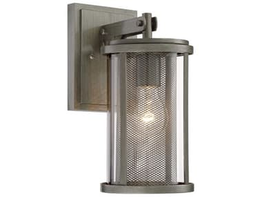 Minka Lavery Radian Painted Brushed Nickel Glass Industrial Outdoor Wall Light MGO71201664