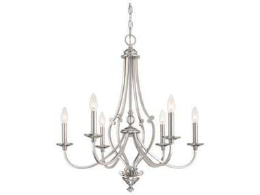 Minka Lavery Savannah Row Brushed Nickel Glass Medium Chandelier MGO333684