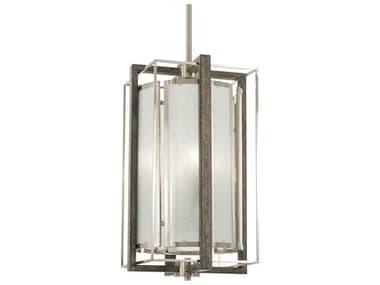 Minka Lavery Tysons Gate Brushed Nickel / Shale Wood 10'' Wide Glass Mini Pendants MGO4562098