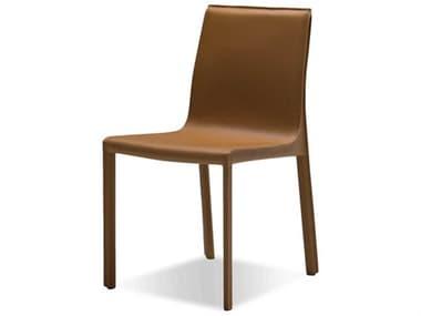 Mobital Fleur Caramel Leather Dining Side Chair MBDCHFLEUCARACA117