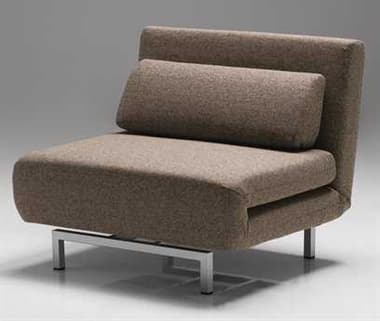 Mobital Iso Brown Tweed Chair-Bed MBCHAISO1BRTWCA117