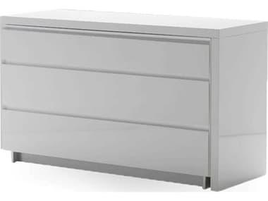 Mobital Savvy High Gloss White Three-Drawer Single Dresser with Extension MBDRESAVVWHIT