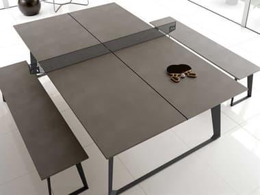 Modloft Amsterdam Gray Concrete Ping Pong Table MOLDEGHTPPTBLC