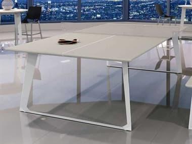 Modloft Amsterdam White Sand Concrete Ping Pong Table MOLDEGHTPPTBLCWHT