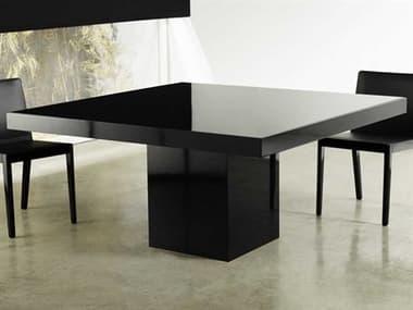 Modloft Beech Black Glass 59'' Wide Square Dining Table MOLMJK25300L5V5