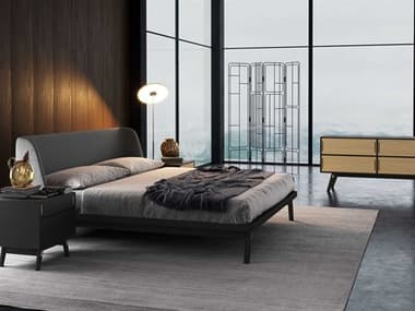 Modloft Haru Bedroom Set MOLDESKA014637QBLKSET