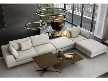 Modloft Perry Chalk Fabric Left Facing Sectional Sofa MOLMD821SET12A5PCCHK