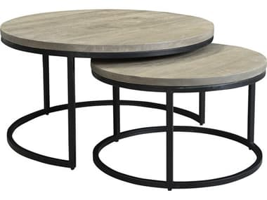 Moe's Home Collection Drey Grey 31'' Wide Round Coffee Table Nesting MEBV101115