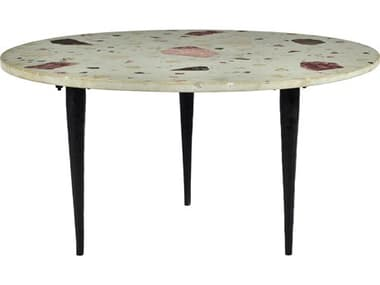 Moe's Home Collection Menta Multi 31'' Wide Round Coffee Table MEQJ101337