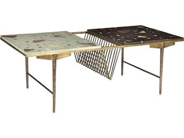 Moe's Home Collection Mosaic Multi 59'' Wide Rectangular Coffee Table MEQJ101237