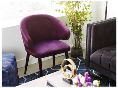 Moe's Home Collection Stewart Purple Side Dining Chair MEEH110410