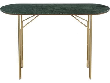 Moe's Home Collection Verde Green / Brass 30'' Wide Oval Console Table MEBZ109316