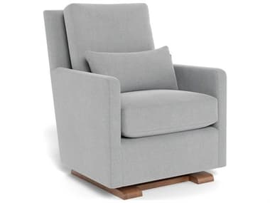 Monte Design Como Nordic Grey with Walnut Glider Accent Chair - Quick Ship MONCOMOGLIDERQS