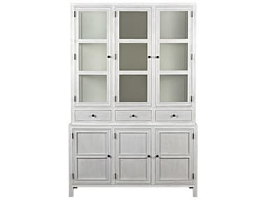 Noir Furniture White Wash Colonial China Cabinet NOIGARM119WH
