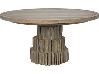 Noir Furniture Washed Walnut 60'' Wide Round Dining Table NOIGTAB529WAW
