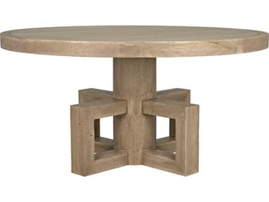 Noir Furniture Washed Walnut 60'' Wide Round Dining Table NOIGTAB531WAW60