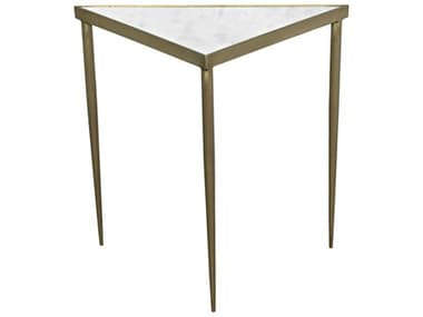 Noir Furniture Brass 20'' Wide Triangle Comet End Table NOIGTAB844MBL