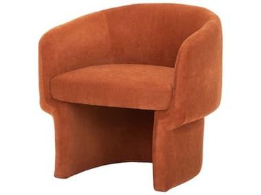 Nuevo Clementine Terra Cotta / Black Matte Accent Chair NUEHGSC703