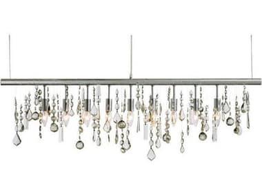 Nuevo Crystal Linear Clear Crystal / Silver Nine-Light 47.5'' Wide Island Light NUEHGML158