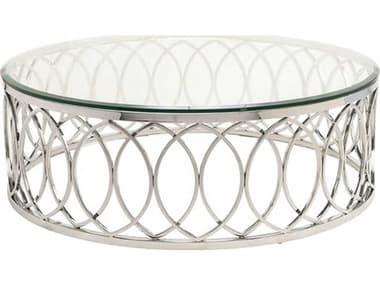 Nuevo Juliette Clear 41.3'' Round Coffee Table NUEHGTB237