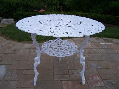 Oakland Living Cast Aluminum Scroll 32-inch Bistro Table in White OLAL4TWT