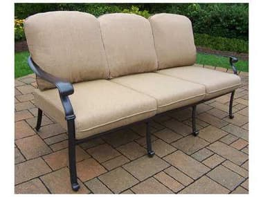 Oakland Living Hampton Cast Aluminum Deep Seating Sofa OL7715SFD56AB