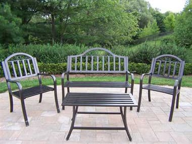 Oakland Living Rochester Wrought Iron4 Pc. Seating Lounge Set OL6123383061304HB