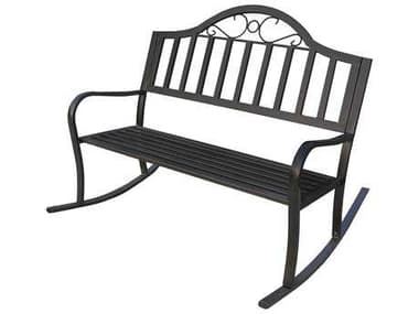 Oakland Living Rochester Wrought Iron Rocking Bench OL6125HB
