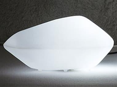 Oluce Stone of Glass Medium White Floor Lamp OE203