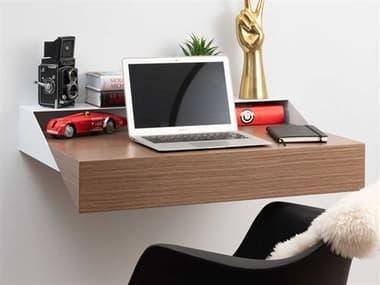 Orange22 Hideaway White / Walnut 32''W x 17''D Computer Desk O2XINWDWHTWAL