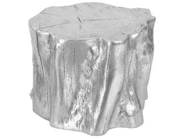 Phillips Collection Cast Naturals Silver Leaf Accent Stool PHCPH93177